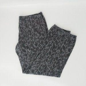 Monrow Gray Animal Print Joggers Sz L